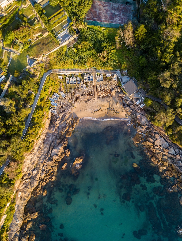 aeriel shot of Gordons Bay Sydney Australia