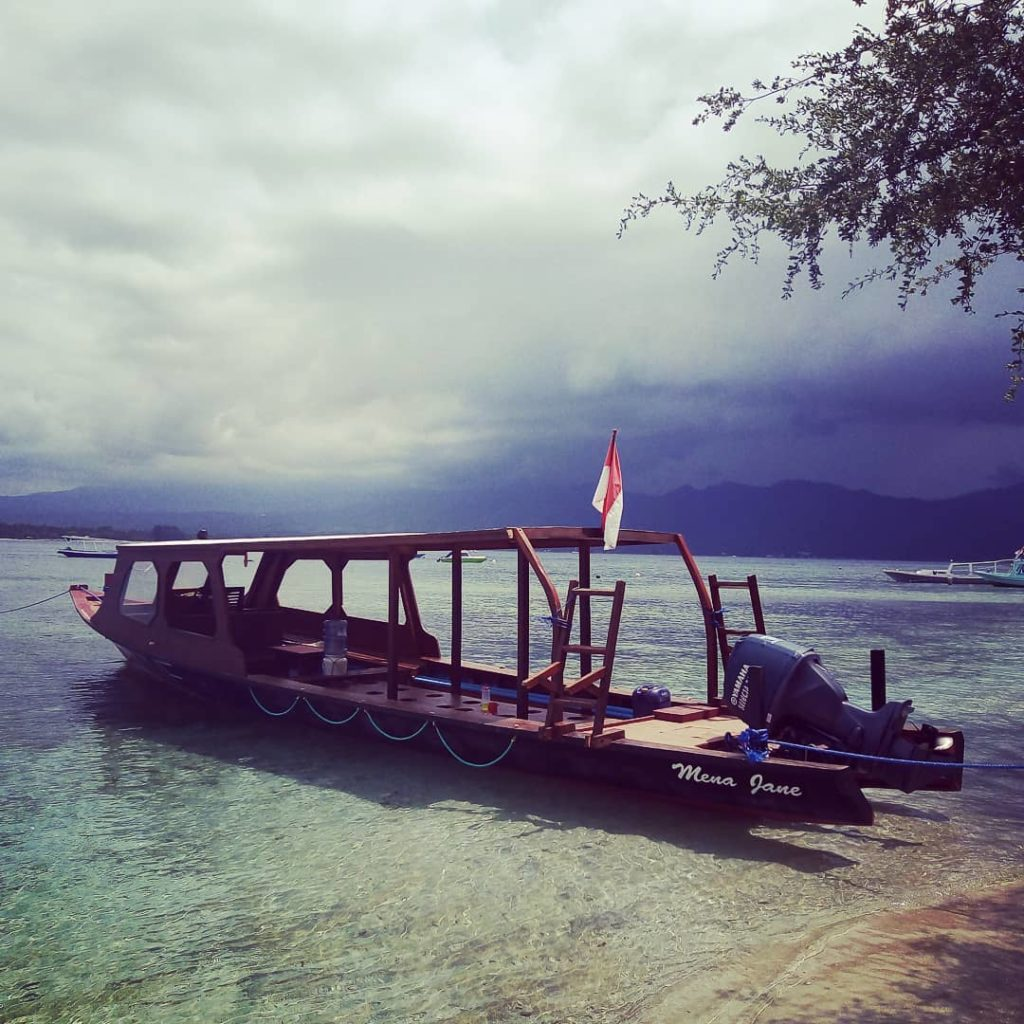 diving in Gili Air off a boat