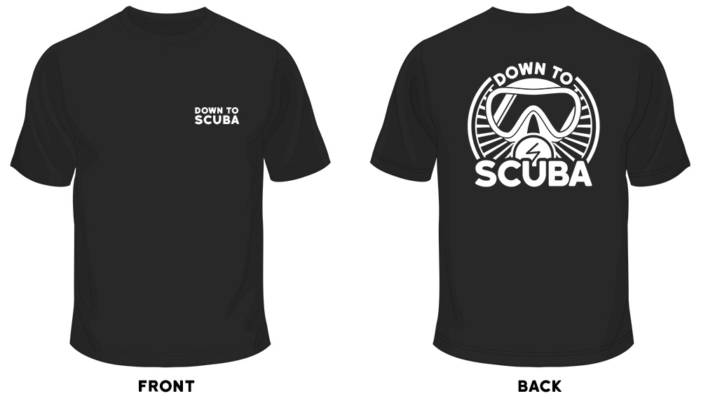 down to scuba tshirt