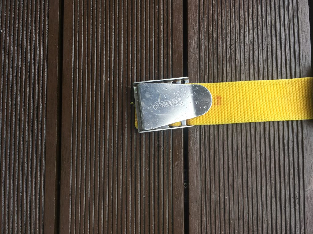 how to make a weight belt for diving