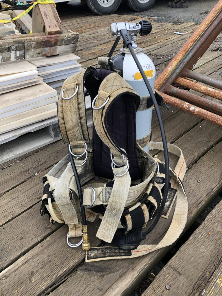 The equipment of a Commercial Diver