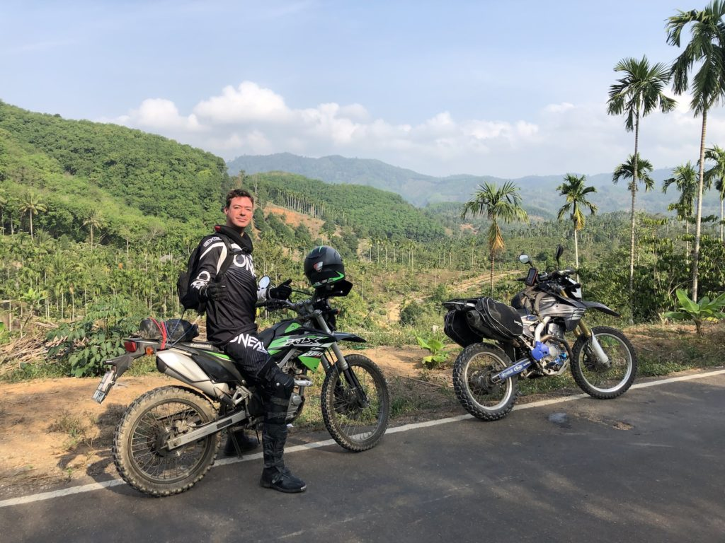 Marcel van den Berg motorbiking around Thailand in his spare time off from being a PADI Course Director.