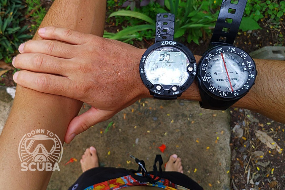 Correct Compass Position when Navigating Underwater