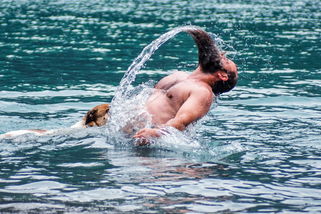 An Awesome Beard Water Flip
