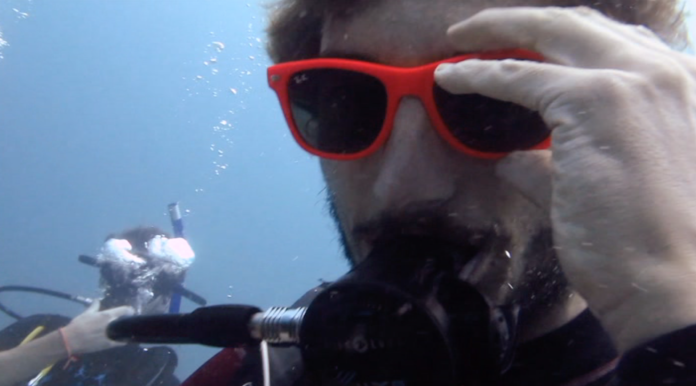 Scuba diving with glasses underwater!