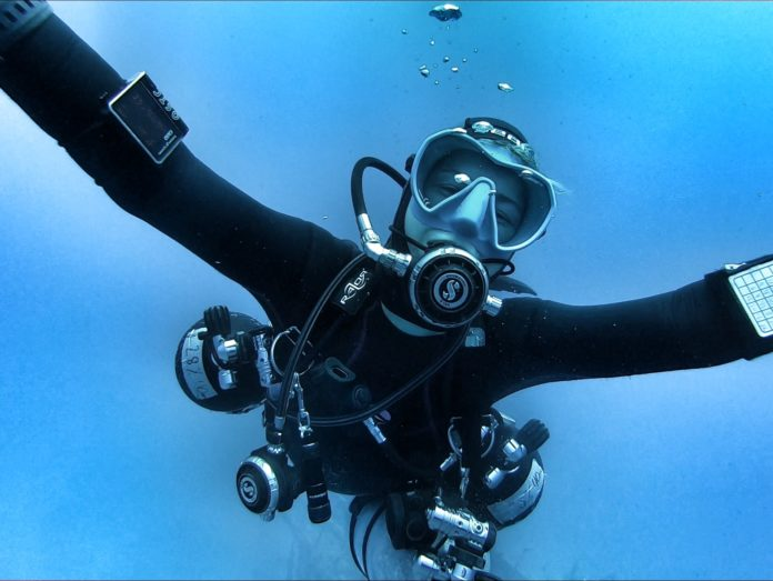 Female Tech and Cave Diver, Miranda Bowman