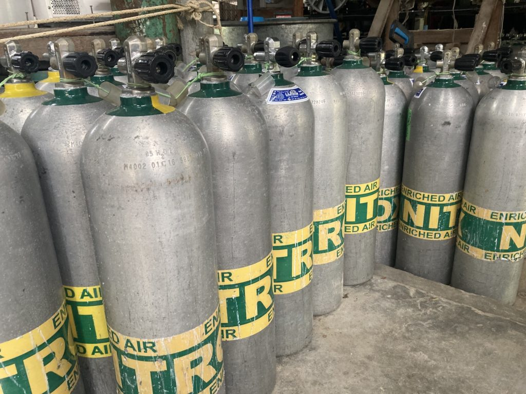 Enriched air or Nitrox carries some dangers in scuba diving.